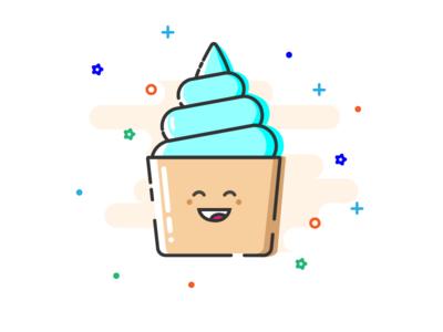 Cupcake illustration MBE style