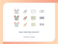 Daily Routine Icon Set