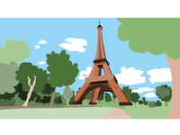 Quick Vector Illustration - Paris