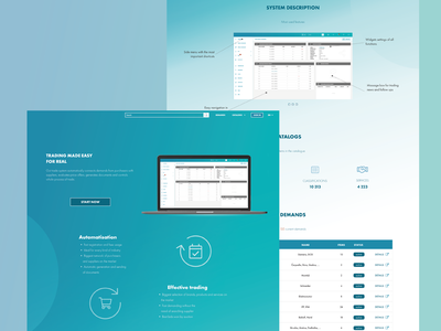 Trading webpage design landing page webdesign adobexd redesign ux ui