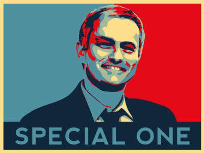 The Special One poster propaganda jose mourinho obama flat chelsea football design obey