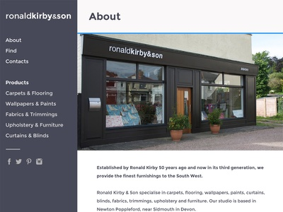 Full page website website design ux ui flat responsive nav sidenav clean simple flat design minimalist