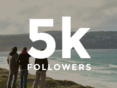 5k followers social media instagram followers poster typography simple social media clean