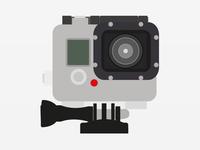 Flat GoPro