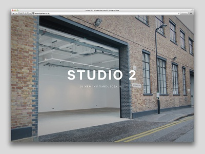 Studio 2 Website website responsive fullscreen simple clean