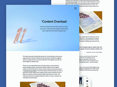 Content Overload - Protein® Audience Survey website responsive fullscreen simple clean text typography