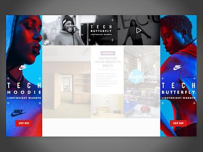 Nike Tech Pack Masterhead + Skin  ad unit nike ad masterhead skin