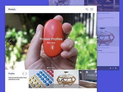 Protein Feed Website website clean simple minimal design flat