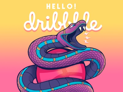 Hello Dribbble!! design illustration first shot debut hello