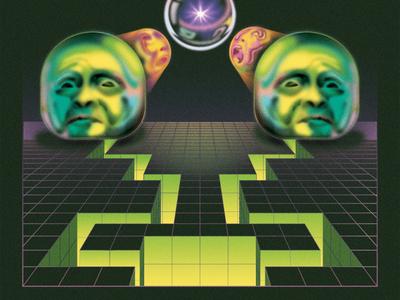 OBLIVION digital painting digital art retro sci-fi graphic  design illustration airbrush