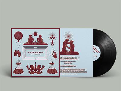 BLACKBERRIES / DISTURBIA / LP DESIGN music artwork cover artwork vinyl cover illustration graphic  design design