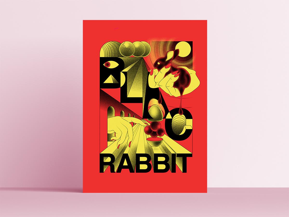 BLAC RABBIT gigposter vector art silkscreen poster art serigraphy illustration graphic  design design