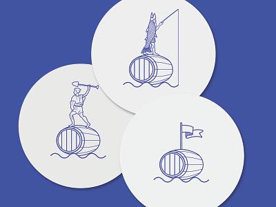 SHANGHAIT / BRANDING DESIGN vector design vector art coaster beer logo graphic branding branding design