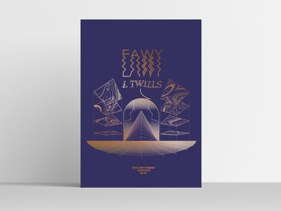 EAWY / L TWILLS Gigposter