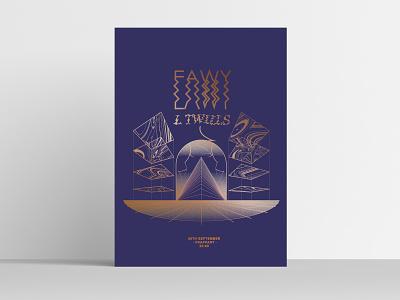 EAWY / L TWILLS Gigposter illustration vector art poster art serigraphy music poster graphic design design
