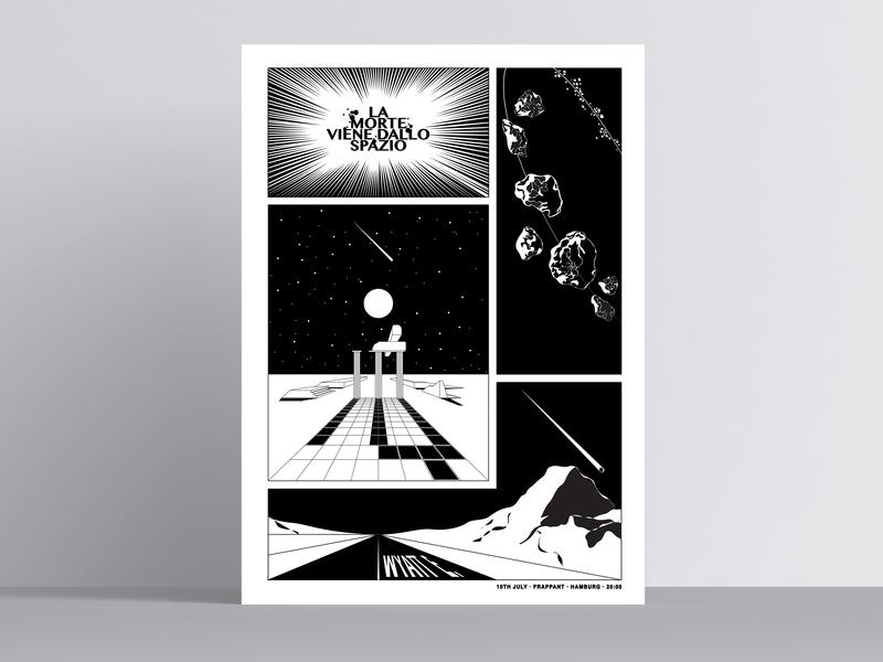 La Morte Viene Dallo Spazio / Wyatt E. Gigposter serigraphy vector art poster art vector music illustration poster graphicdesign design