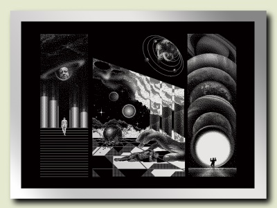 THE RETURN OF SATURN poster pixel art graphic  design illustration design