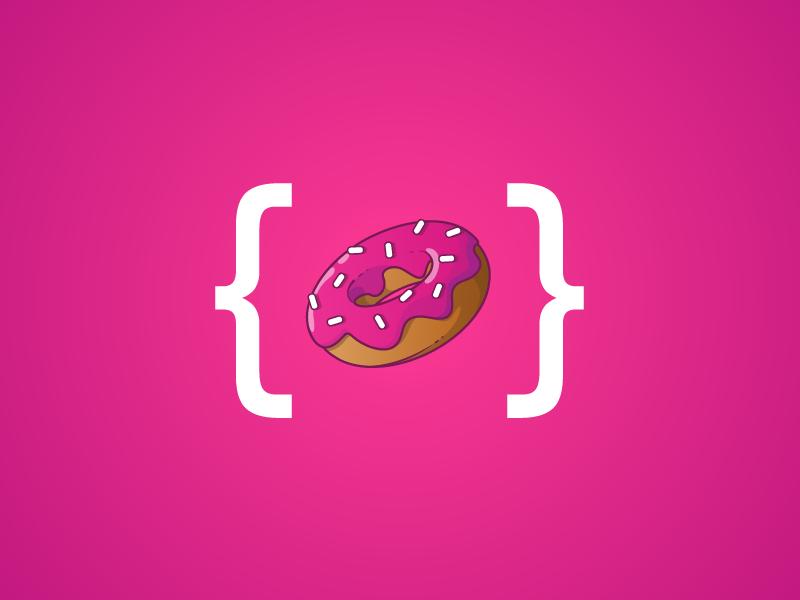 Donut Icon snack icon fullsnack code glaze donut sprinkles glaze