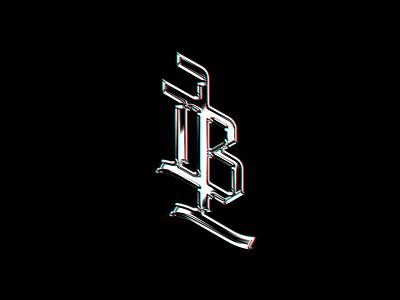 Lucas Borges - Designer (Personal logo) metallic letter branding logo designs trademark type customtype logo design personal logo monogram typography blackletter lb typeface graphic blackwork