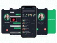 WhatsApp Redesign - Dark Mode