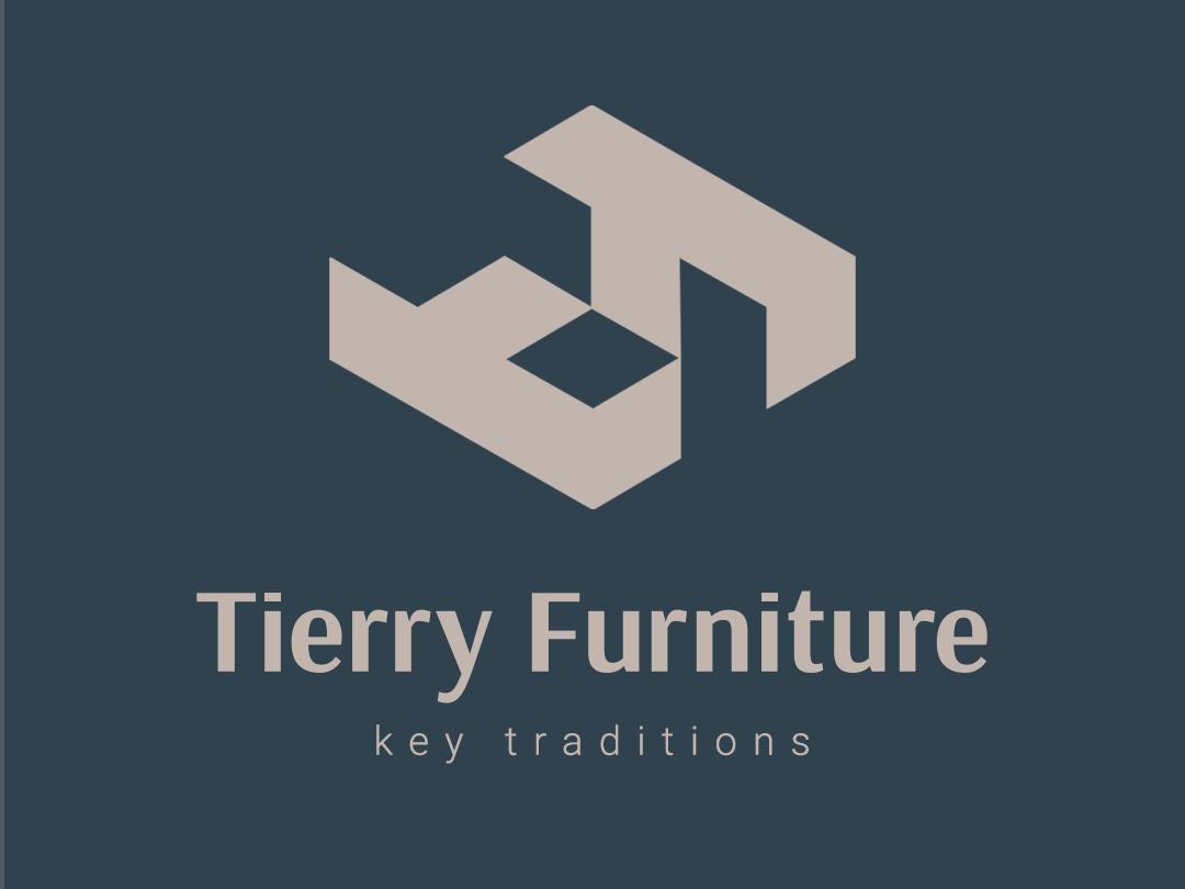 Tierry Furniture - Logotype furniture logo furniture colorful trend 2019 logos brands company identity minimal logofolio icon flat vector symbols marks minimalistic logotype logo illustration branding