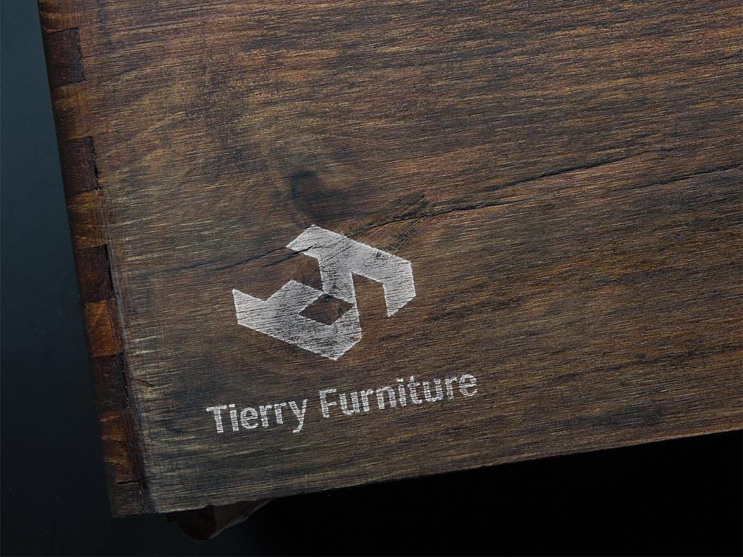 Tierry Furniture - Logotype branding illustration logo logotype minimalistic marks symbols vector flat icon logofolio minimal identity company brands logos trend 2019 colorful furniture furniture logo
