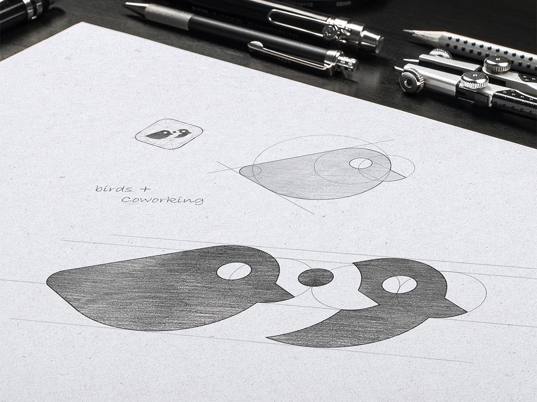 Logo Sketch - Birds identity branding design illustration logo logotype marks symbols vector flat icon logofolio logogrid grid sketch logo sketch grid logo collection brands minimalistic