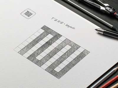Logo Sketch - TUNU Solution