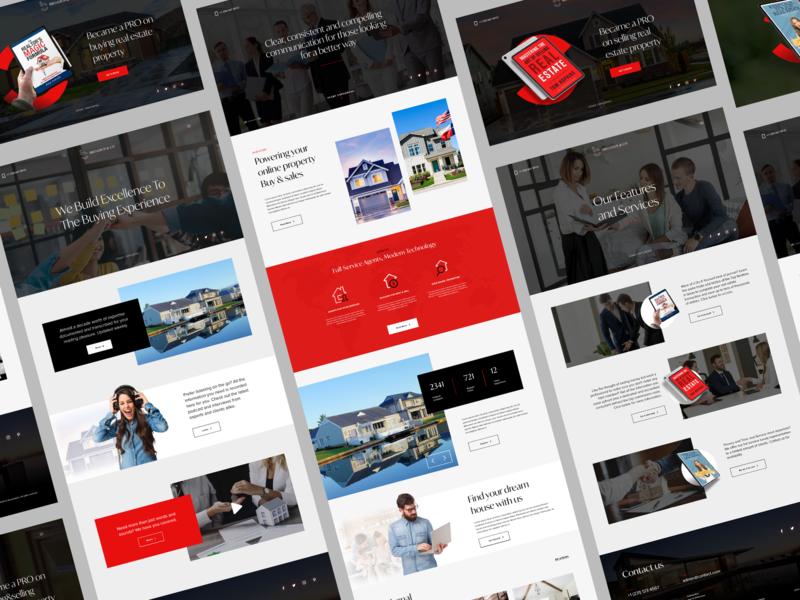 Real Estate Agency website design house home real estate realestate graphic branding minimal webdesign website web ux ui clean