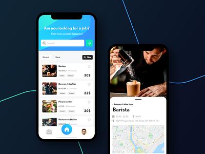 Experience Jobs - Search Concept business clean ui interface creative color concept app design mobile app job board jobs colorful minimal uiux product ux app ui design branding clean