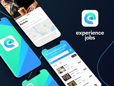 Experience Jobs - job app concept adobe xd design creative interface mobile app uiux minimal job board job app concept colorful business adobe xd product icon ux app ui design clean