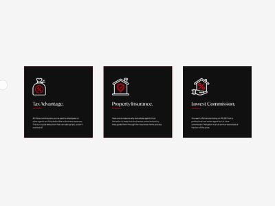 Highland Realtors - Interactions website design web design website web icon graphic minimal clean illustration animation design navigation microinteraction animation after effects animation after effect interaction