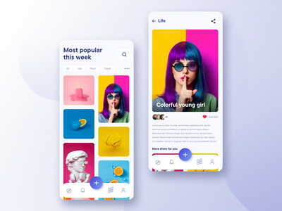 Moodboard - Grid and Image detail ui design art application mobile ui mobile ui  ux interface design colorful uidesign interface clean ui concept uiux product design ux app graphic branding ui