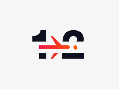 One Two Trip - Logo Redesign Concept minimal logo minimal logodesign logo design flight logo flight clean logo graphic website flat web icon typography branding vector logo clean