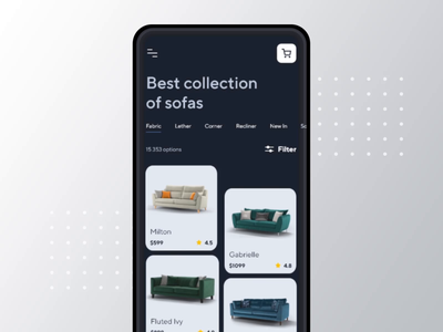 Sofanest - Mobile Menu Interaction dinamic microinteraction aftereffects animation after effects interaction menu animations animation clean ui concept uiux product ux app ui minimal design clean