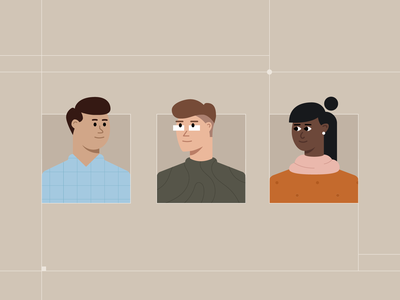 Character profiles diversity user grid personality profile avatar character people