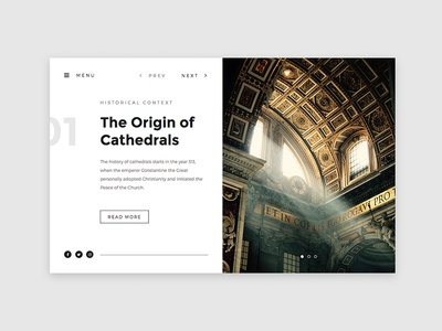 Cathedral Slider article education read text photography card navigation typography cathedral church presentation splitscreen slider website