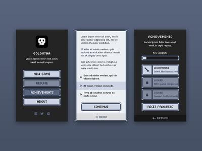 Golgotha UI game retro ui mobile pixel
