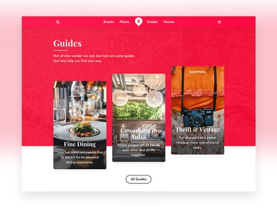 Travel Guides read explore cards grid guides web design travel