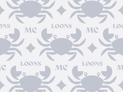 McLoons No. 5 ocean sea illustration pattern minimal logo animal branding lobster crab restaurant food