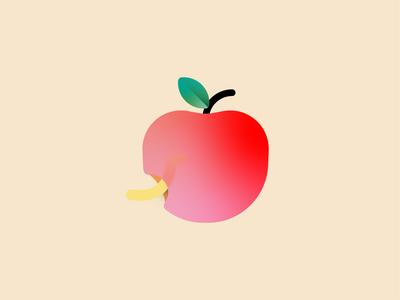 rotten apple colors creative graphicdesign illustration logo design