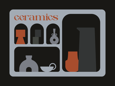 Ceramics palette typefacedesign fontdesign typface typography clay pottery shapes illustration design colours creative colors mood graphicdesign adobe illustrator