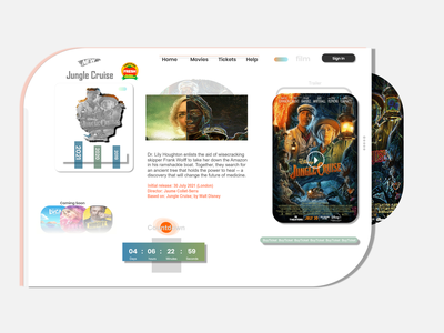 Movie68 ux vector branding logo app ui flat illustration design