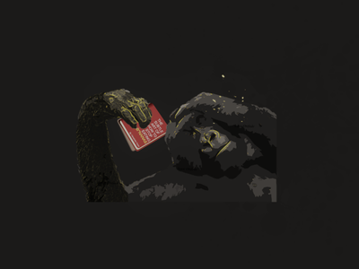 Gorilla with headache & Boy looking into the abyss 3d 2021 motion graphics ux icon typography vector new branding animation ui app flat art design illustration logo graphic design