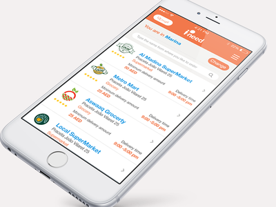 I-Need - Shopping application app application market grocery ios shopping