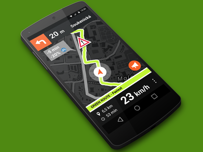 UrbanCyclers - Android navigation app for urban bikers ux ui navigation mobile app android biker cyclers urban