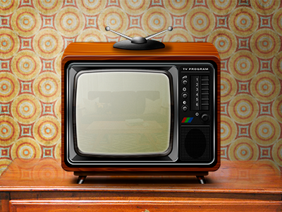 Old TV retro vintage old icon tv