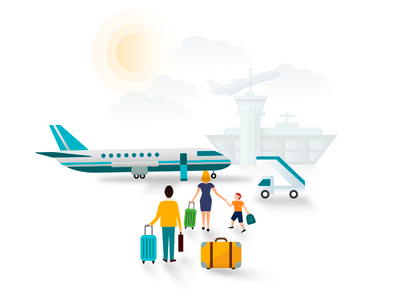 Timeline event illustrations timeline plane boarding illustration airport flight