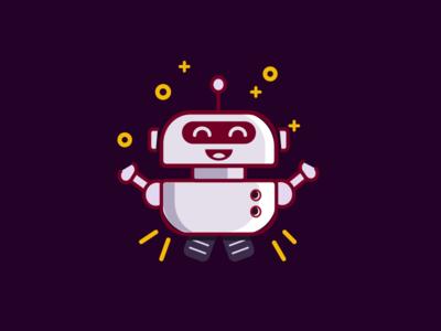 Bot illustrations for Hunter Games mobile app error state empty illustration mopbile app robot bot