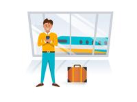 Flight booking app onboarding animation